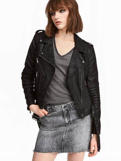 Юбка джинсовая серая H&M 5244576