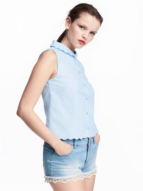 Блуза светло-голубая H&M 5244671