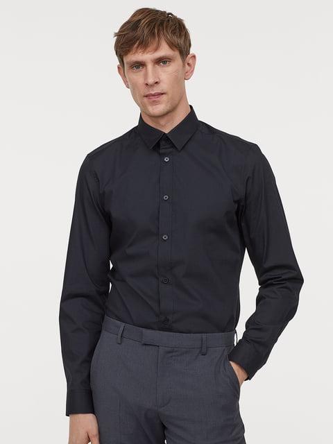 Рубашка черная H&M 5244718