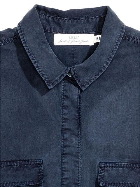 Рубашка синяя H&M 5244737