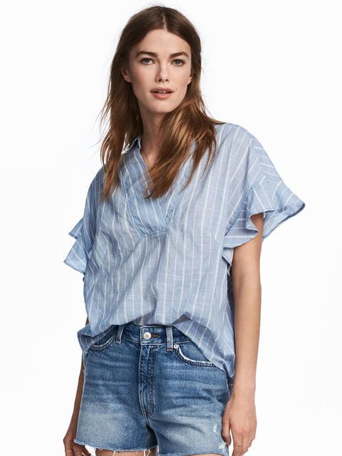 Блуза голубая H&M 5244740