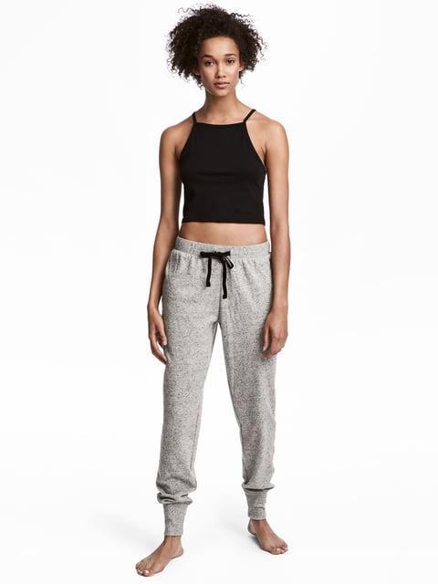 Брюки пижамные серые H&M 5244855