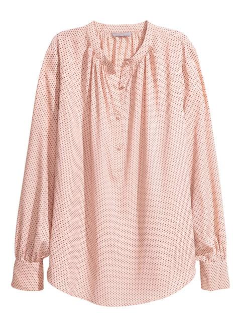 Блуза цвета пудры H&M 5244858