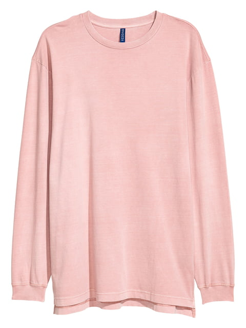 Лонгслив светло-розовый H&M 5244932