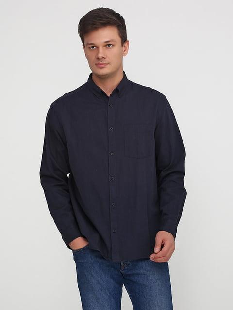 Рубашка темно-синяя H&M 5244974