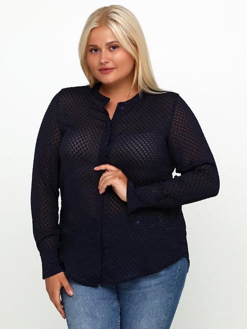 Блуза темно-синяя H&M 5245117