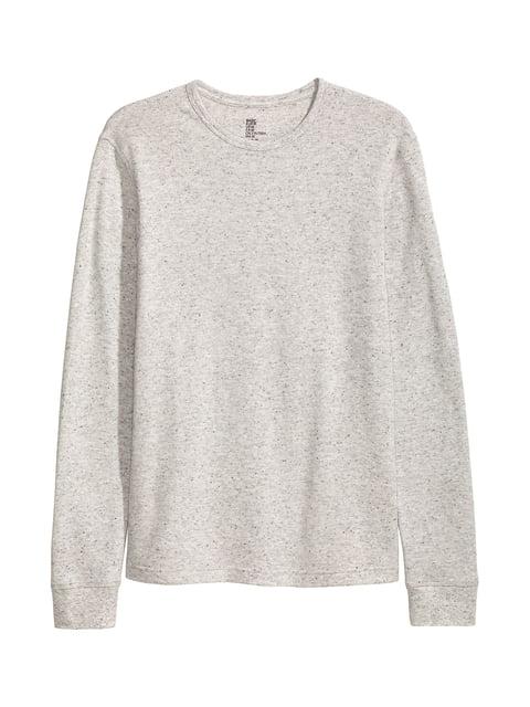 Лонгслив светло-серый H&M 5244217