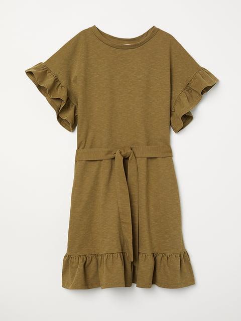 Платье оливкового цвета H&M 5244262