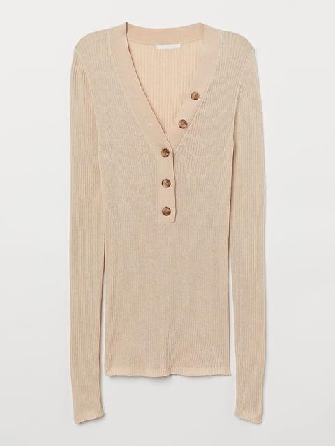Пуловер светло-бежевый H&M 5245203