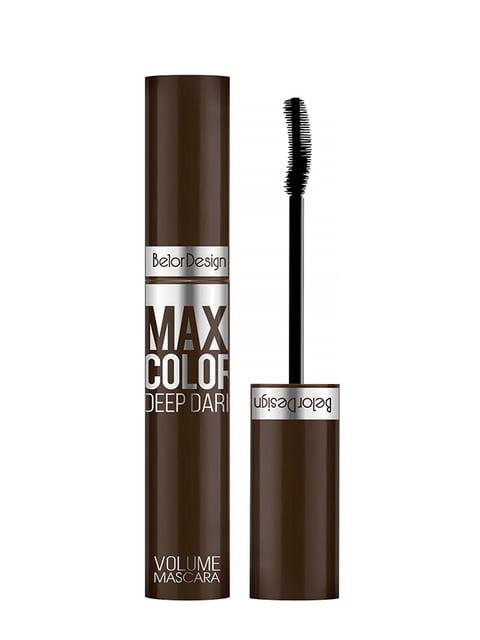 Туш для вій «Maxi Color» об'ємна шоколадного кольору Belor Design 5246637