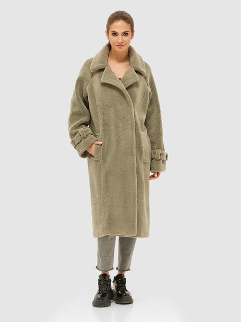 Пальто кольору хакі Mila Nova 5252559