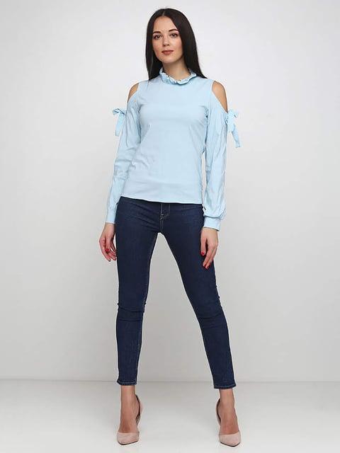 Блуза голубая Podium 5253197