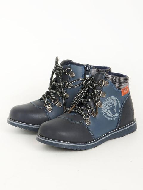Черевики темно-сині Леопард 5253650