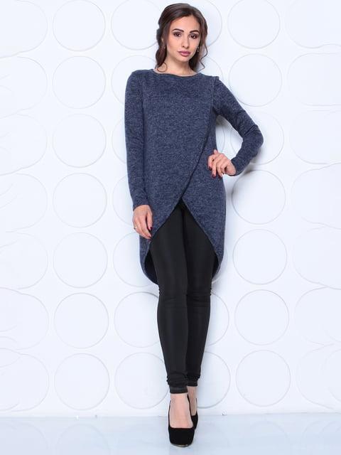 Туника темно-синего цвета с длинным рукавом Laura Bettini 5254442