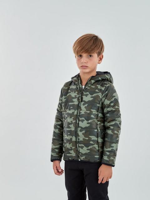 Куртка в камуфляжный принт Piazza Italia 5246588