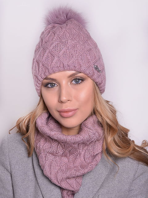 Комплект: шапка і шарф Monleo 5259066