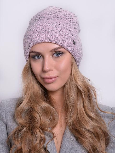 Шапка сіро-рожева Monleo 5259077