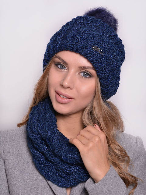 Комплект: шапка і шарф-снуд Monleo 5259119