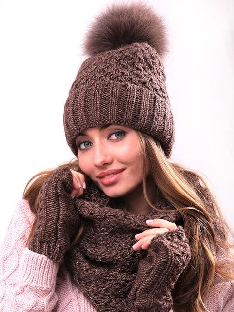 Комплект: шапка, хомут і рукавички Monleo 5227690