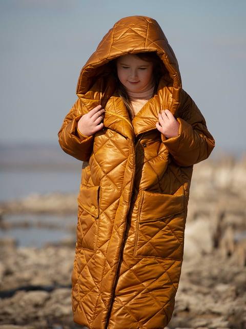 Пуховик-одеяло горчичного цвета I AM 5263021