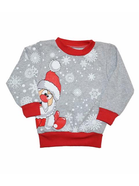 Свитшот серый новогодний Luli 5267122