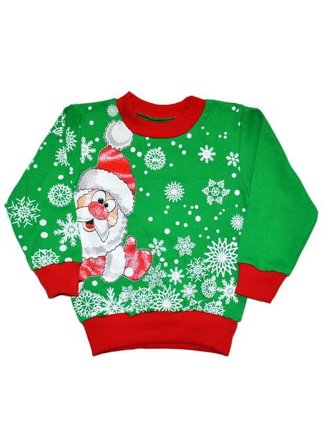 Світшот зелений новорічний Luli 5267124