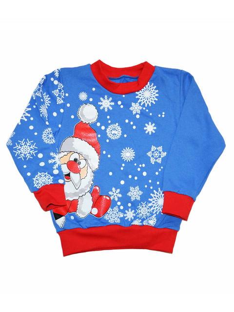Світшот новорічний блакитний Luli 5267126