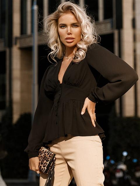 Блуза черная Gepur 5246514