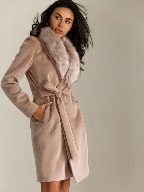 Пальто цвета какао Gepur 5258889