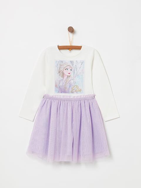 Платье бело-фиолетовое Oviesse 5271752