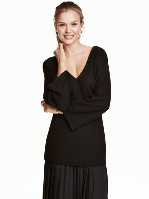 Пуловер чорний H&M 5282205