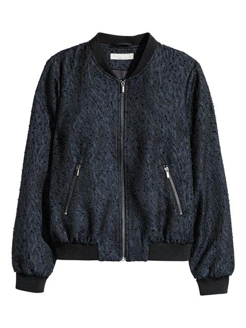 Бомбер синьо-чорний H&M 5283060