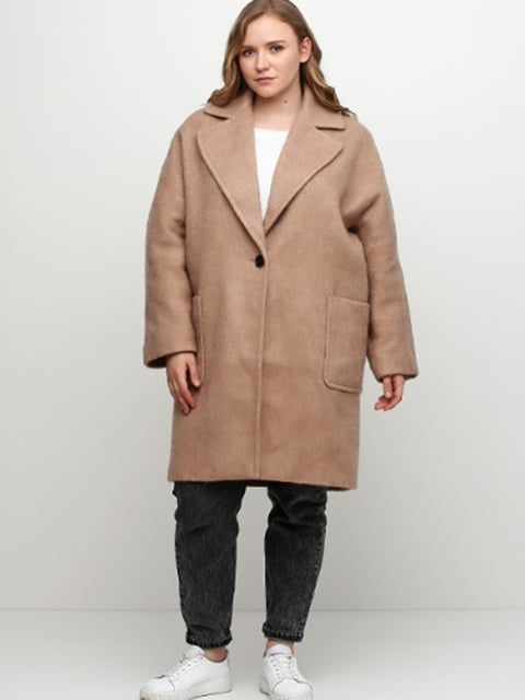 Пальто темно-бежеве H&M 5283078