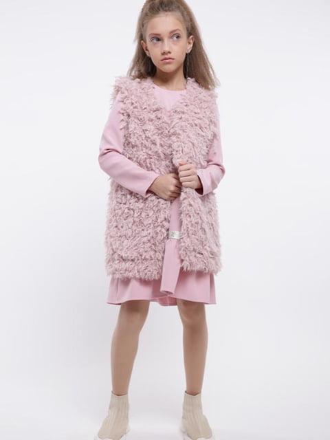 Жилет розовый Sofia Shelest 5283130