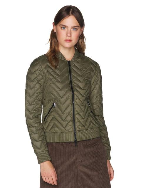 Куртка зелена Benetton 5287512
