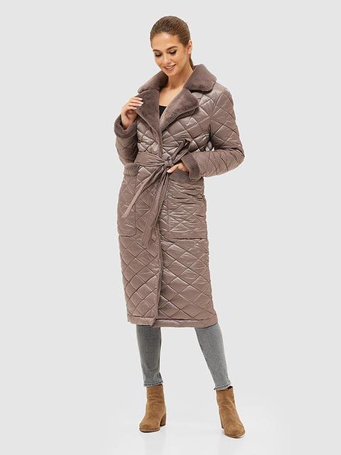 Пуховик темно-рожевий Mila Nova 5289730