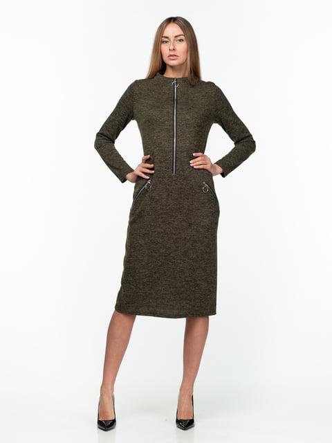 Сукня кольору хакі AERIN 5289816