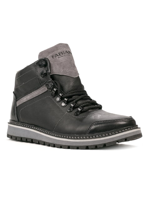 Ботинки черно-серые Fabiani 5291023