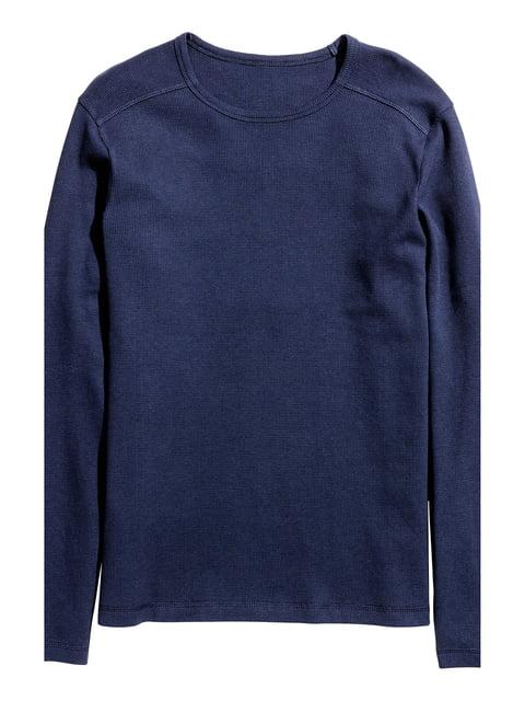 Лонгслив для сна темно-синий H&M 5291938
