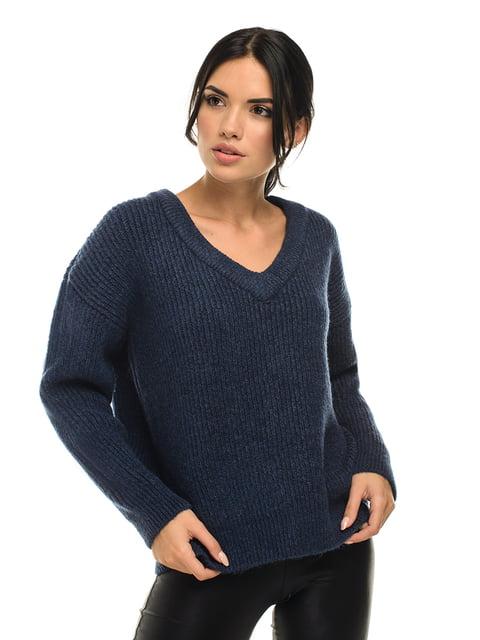 Пуловер цвета индиго G-Rom 5292818