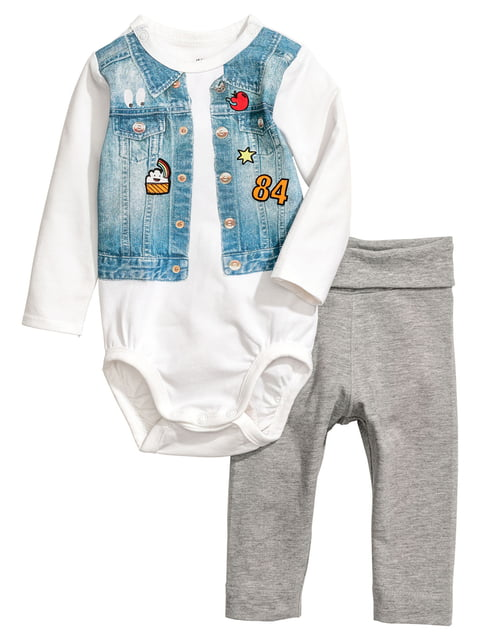 Комплект: боді і штани H&M 5296669