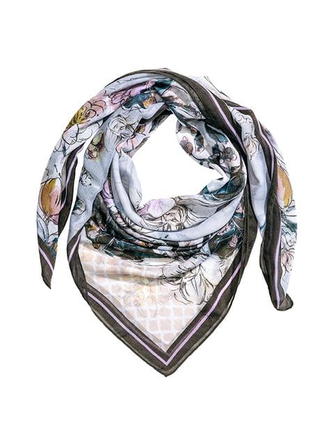Платок голубой с цветочным принтом H&M 5305014