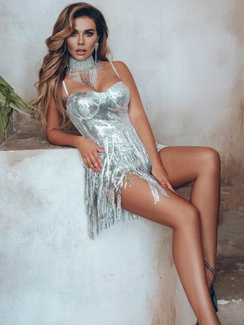 Платье серебристое Gepur 5291084
