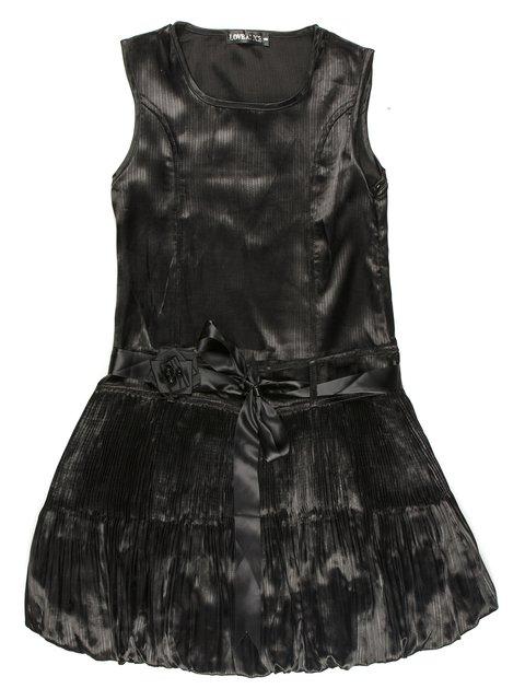 Сарафан черный с поясом-завязкой и цветком Love Alice 565049