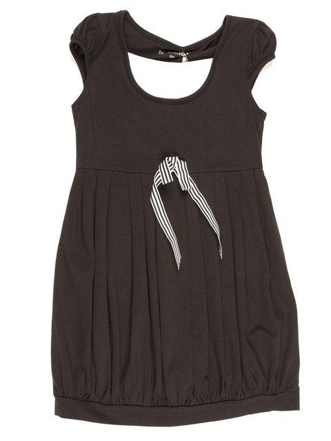 Сукня чорна зі складками і бантиком De Salitto 711739