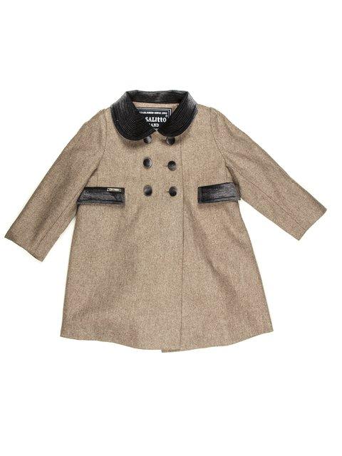 Пальто бежеве двобортне De Salitto 662097