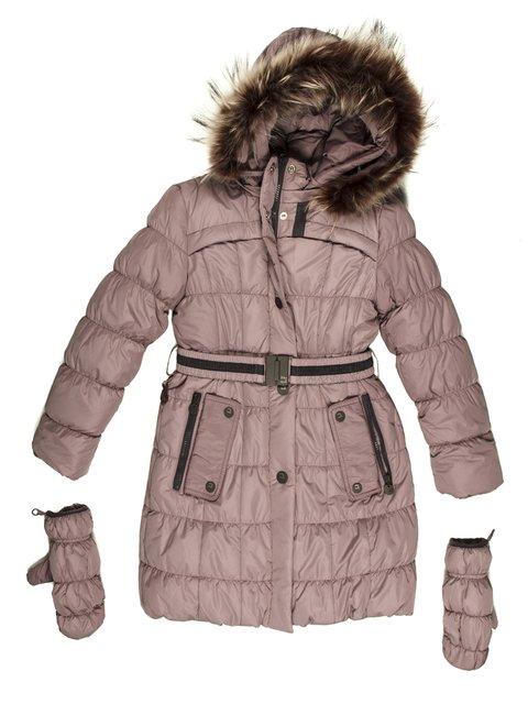 Пальто  коричневое Biko&kana 662104