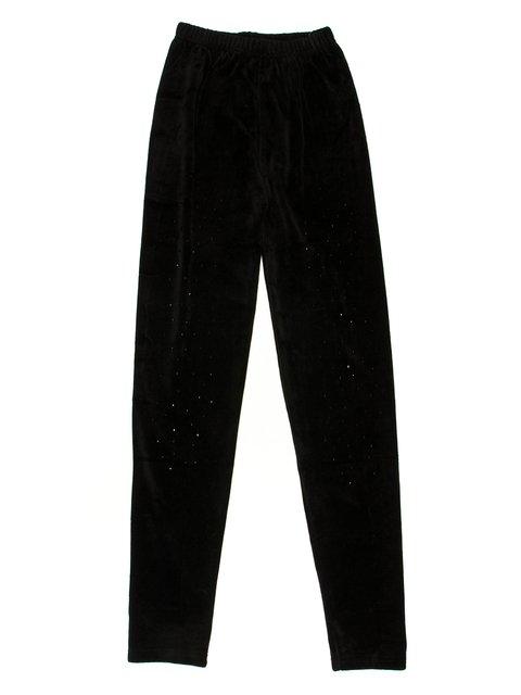 Леггинсы черные велюровые с декором Hong Yang 623524
