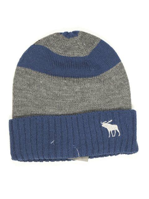 Шапка серо-синяя Abercrombie&Fitch 628973