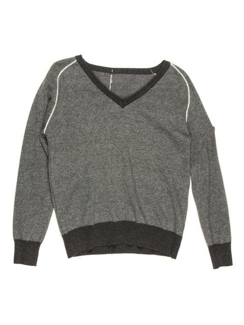 Пуловер сірий De Salitto 681055